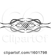 Black Flourish Design Element Border