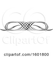 Clipart Of A Black Flourish Design Element Border Royalty Free Vector Illustration