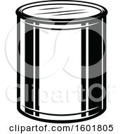 Clipart Of A Black And White Paint Bucket Royalty Free Vector Illustration