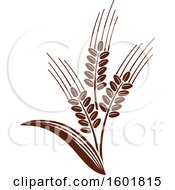 Clipart Of A Brown Wheat Design Royalty Free Vector Illustration by Vector Tradition SM