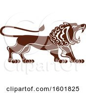 Clipart Of A Brown Lion Of Judah Royalty Free Vector Illustration