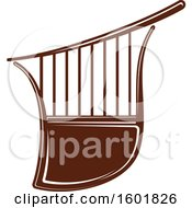 Clipart Of A Brown Israel Lyre Royalty Free Vector Illustration