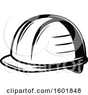 Clipart Of A Black And White Hardhat Royalty Free Vector Illustration by Vector Tradition SM