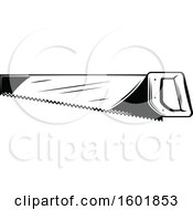 Clipart Of A Black And White Saw Royalty Free Vector Illustration