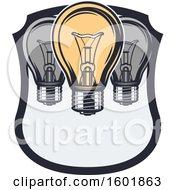 Poster, Art Print Of Shield With Light Bulbs