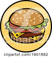 Clipart Of A Cheeseburger Design Royalty Free Vector Illustration by Vector Tradition SM