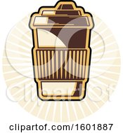 Clipart Of A To Go Coffee Design Royalty Free Vector Illustration