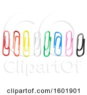 Clipart Of Colorful Paperclips Royalty Free Vector Illustration