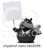 Clipart Of A 3d Chubby Black Business Horse Holding A Euro On A White Background Royalty Free Illustration
