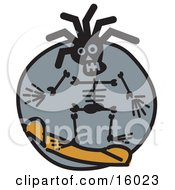 Snowboarding Skeleton Clipart Illustration by Andy Nortnik