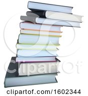 Clipart Of A Stack Of Books Royalty Free Vector Illustration by dero