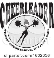 Clipart Of A Jumping Cheerleader With Without Cheerleading Its Just A Game Text Royalty Free Vector Illustration