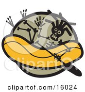 Skeleton Rafting Clipart Illustration by Andy Nortnik