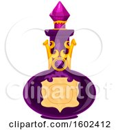 Clipart Of A Magical Wizard Or Witch Potion Bottle Royalty Free Vector Illustration