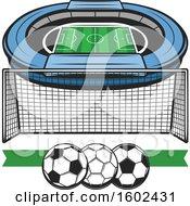 Soccer Stadium And Net
