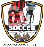 Shield With Soccer Equipment