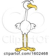 Cartoon White Bird