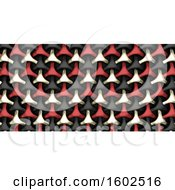 Clipart Of A 3D Geometric Weave Abstract Royalty Free Illustration by KJ Pargeter