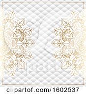 Clipart Of A Golden Mandala And Geometric Pattern Background Royalty Free Vector Illustration