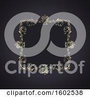 Clipart Of A Golden Ornate Frame Design Royalty Free Vector Illustration