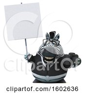 3d Business Zebra Holding A Camera On A White Background