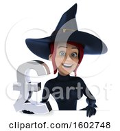 Clipart Of A 3d Sexy Blue Witch Holding A Lira On A White Background Royalty Free Illustration by Julos