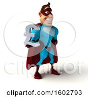 Poster, Art Print Of 3d Buff White Male Yellow And Blue Super Hero Holding A Lira Symbol On A White Background