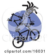 Skeleton Riding A Bmx Bike Clipart Illustration
