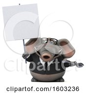 Poster, Art Print Of 3d Business Elephant Holding A Wrench On A White Background