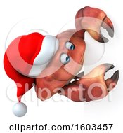 August 16th, 2018: Clipart Of A 3d Christmas Crab On A White Background Royalty Free Illustration by Julos