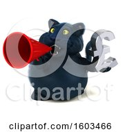 Poster, Art Print Of 3d Black Kitty Cat Holding A Lira Symbol On A White Background