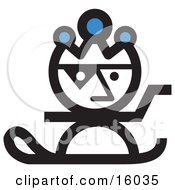 Jester Snowboarding Clipart Illustration