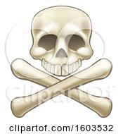 Poster, Art Print Of Human Skull Over Crossbones