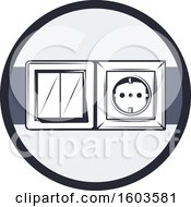 Clipart Of A Circle With A Socket Royalty Free Vector Illustration