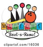 Bowling Ball Sign For Marlows Bowl O Rama