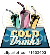 Clipart Of A Fountain Soda Logo Royalty Free Vector Illustration