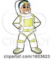 Happy Male Astronaut School Mascot Character