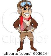 Male Pilot Aviator Mascot Character