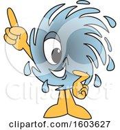 Hurricane School Mascot Character Holding Up A Finger