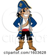 Clipart Of A Navigator Captain School Mascot Character Royalty Free Vector Illustration