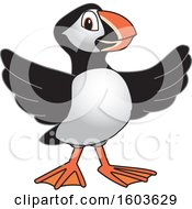 Clipart Of A Puffin Bird School Mascot Character Royalty Free Vector Illustration
