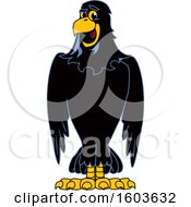Clipart Of A Raven School Mascot Character Royalty Free Vector Illustration