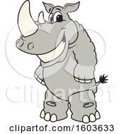 Rhinoceros School Mascot Character