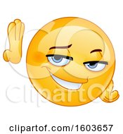 Poster, Art Print Of Cartoon Flirty Yellow Emoji Leaning