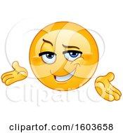 Poster, Art Print Of Cartoon Yellow Emoji Presenting Confidently