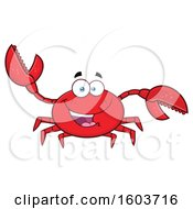 Clipart Of A Happy Crab Mascot Character Royalty Free Vector Illustration