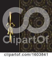 Clipart Of A Background Of Elegant Ribbon And Pattern Royalty Free Vector Illustration