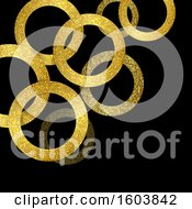 Clipart Of A Background Of Gold Glittery Rings Royalty Free Vector Illustration
