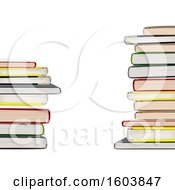 Background Of 3d Stacked Books