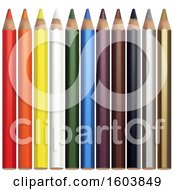 Clipart Of 3d Colored Pencils Royalty Free Vector Illustration by dero